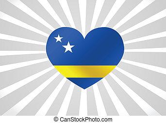 Curacao flag themes idea design