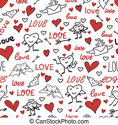 seamless love and heart background.