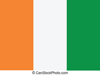 Ivory Coast flag themes idea design