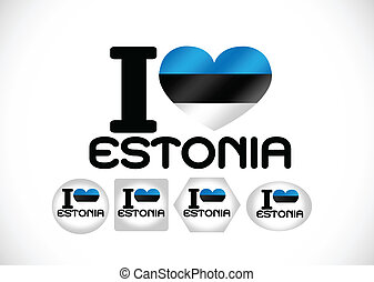 National flag of Estonia themes idea design
