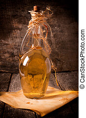 Rakia bottle - Glass bottle of Serbian traditional drink...