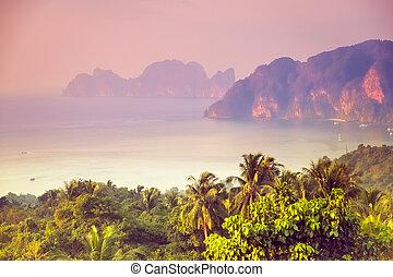Phi-phi island - Tropical landscape Phi-phi island, panorama...