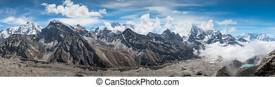 vacker,  Mountains,  Snow-Capped