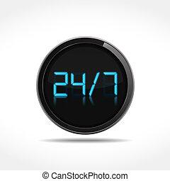 247 Icon - 247 digital icon, vector eps10 illustration