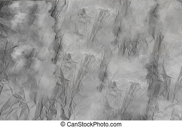 Gray crumpled paper