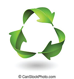 Vector Green Recycle Leaves