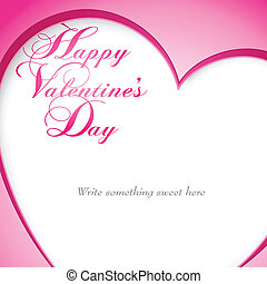 Happy Valentines Day vector design with cropped heart