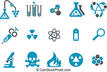 Research icon set - Vector icons pack - Blue Series,...