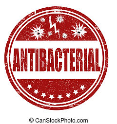 Antibacterial stamp - Antibacterial grunge rubber stamp on...