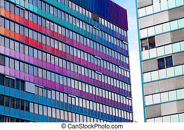 background of the glass modern office building