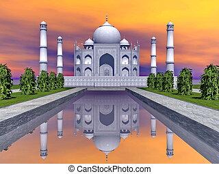 MAHAL,  render, インド,  -,  AGRA, 壮大な墓,  TAJ, 3D