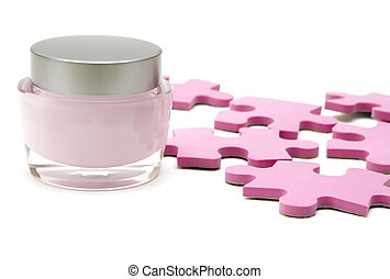 moisturizer cream and puzzle