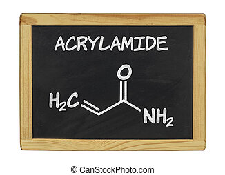 chemical formula of acrylamid on a blackboard