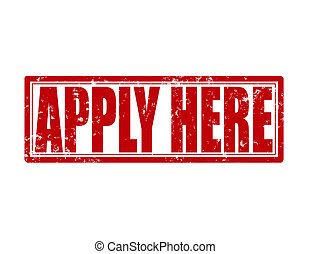 Apply here - Stamp with text apply here inside, vector...
