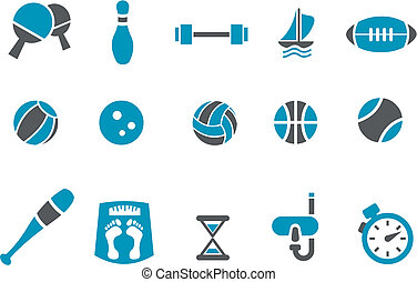 Sport Icon Set - Vector icons pack - Blue Series, sport...