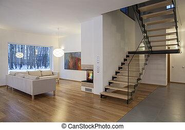 Designers interior - living room and a hall - Designers...