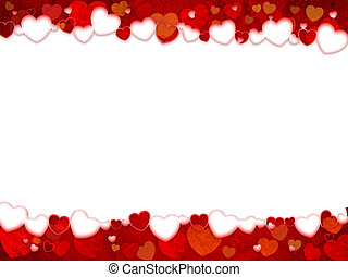 Love - Valentines hearts background. Power of Love