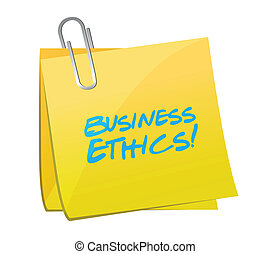 business ethics post illustration design