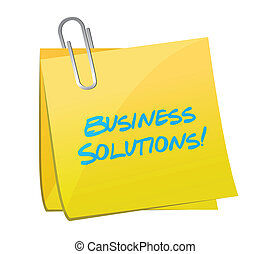 business solutions post illustration design over a white...