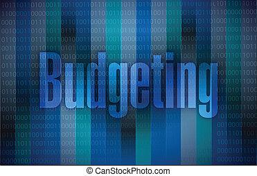 budgeting message illustration design