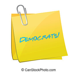 democrats post illustration design over a white background