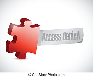access denied puzzle piece illustration design