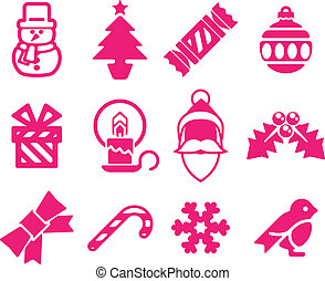 Christmas icon set - A set of modern Christmas icons...