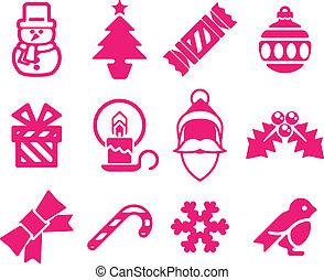 Christmas icon set - A set of modern Christmas icons...