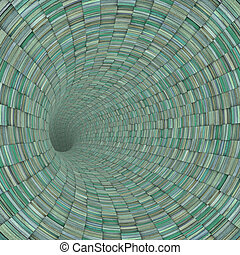 blue wood timber tile tunnel pipe 3d