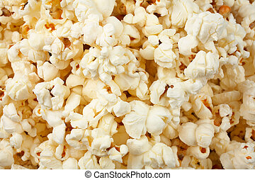 Popcorn background - A tasty popcorn background with sallow...