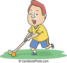 Field Hockey Player - Illustration of a Field Hockey Player...