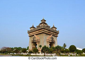 Patuxai arch monument, Vientiane Laos