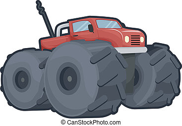 Off Road Truck - Illustration of an Off Road Truck with...