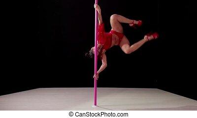 Girl, woman dancing lap dance - Girl dancing lap dance,...