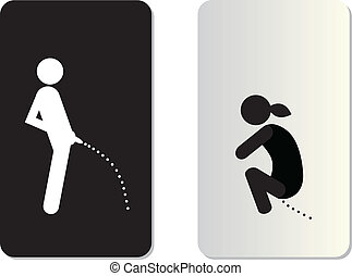 toilet symbol tag on white background