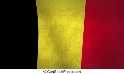 Belgium Flag Background (Loop-able) - Belgium Flag...