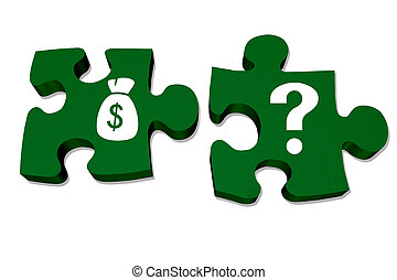 Understanding your money and savings - Green puzzle pieces...