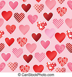 pattern paper heart - Seamless background with pattern paper...