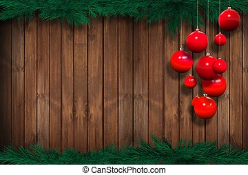 Holiday Season Background - Holiday Season Wooden Background...