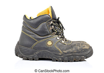 Old work boots