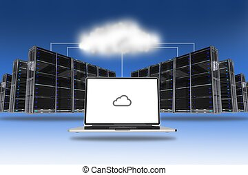 Cloud Servers Technology Abstract Conceptual Illustration...