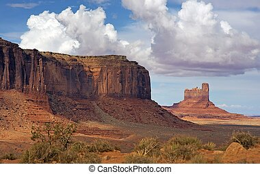 Desert Valley of Arizona. Monuments Valley Landscape....