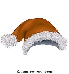 Santa Hat - Colored Illustration, Vector