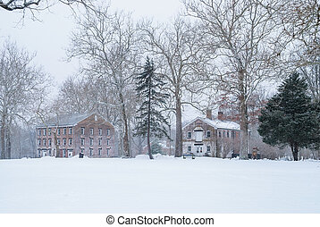 Allaire Village Winter - Historic Allaire Village in New...