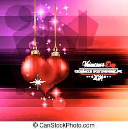 Valentine's Day template with stunning hearts and colors for...