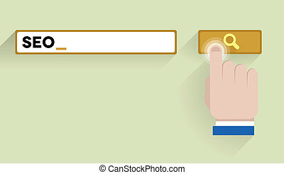 search seo - minimalistic illustration of a search bar...