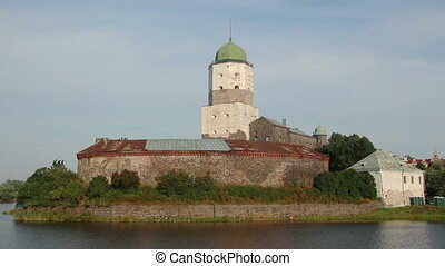 old sweden castle on island in vyborg russia