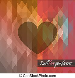 Valentines Day template with stunning hearts and colors for...
