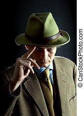 Stern looking man - A stern looking man in his thirties...