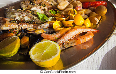 fish platter - large fish platter to share in a simple...